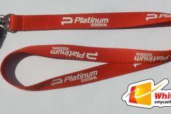 smycz sitodrukowa 1 kolor nadruku - Orlen Platinum