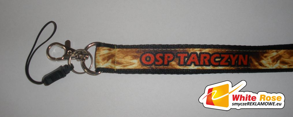 taśma sublimacyjna naszywana na taśmę miękką - OSP Tarczyn